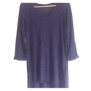 Atmosphere Women's 16 Black Blue 3/4 Sleeve Tunic